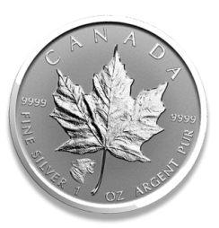 Metals Silver Canadian Maple Leaf